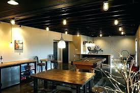 lighting for basement ceiling. Basement Ceiling Lighting Exposed Living Room Traditional With Window For