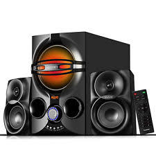 wireless home sound system. stereo bass system home audio shelf sound speakers radio wireless bluetooth 2.1