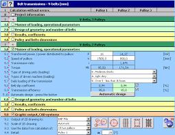 V Belt Conversion Chart Mitcalc V Belts Calculation Geometric Design And