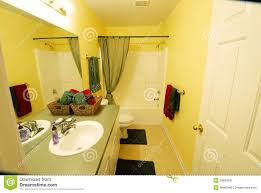Yellow Bathroom Modern Yellow Bathroom Stock Image Image 29893691