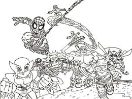 Small Picture Chibi Super Hero Squad Coloring Page NetArt