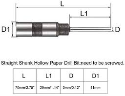 uxcell 4 5mm punching dia taper shank hollow paper drill bit