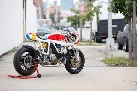 Motorcycle Display Stand Custom Puma Ducati 100 SS by Walt Sieg Bar Hopper Challenge 46