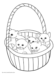 Kitten Coloring Pages With Sheets For Kindergarten Also Free Kids