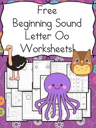Beginning Sounds Letter O Worksheets - Free and Fun