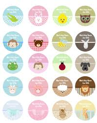 Baby Animals Personalized Sticker Labels  Baby Animals Baby Baby Shower Tags And Labels