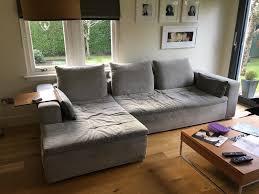 Living Room Furniture Glasgow Boconcept Corner Sofa With Wooden Armrest Table In Southside