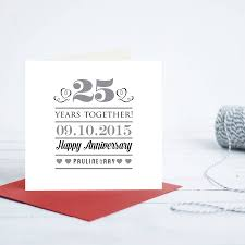 Personalised Wedding Anniversary Card By Quirky Gift Library