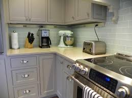 Houzz Kitchen Tile Backsplash Painted Inset Cabinets In Vinyard By Holiday Kitchens Featuring
