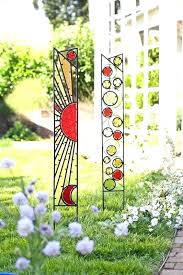 glass garden stakes free stained stake patterns