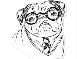 Free Pug Dog Coloring Pages Bltidm