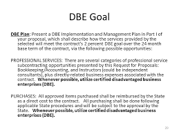 29 dbe bookkeeping proposal