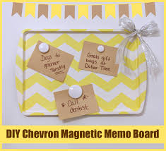 How To Make A Magnetic Memo Board DIY Chevron Magnetic Memo Board Crafting With Dollar Tree shop 7
