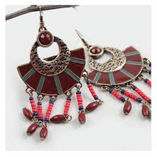 big statement chandelier earrings zoom
