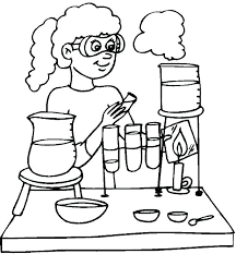 Science Pictures To Color Chemistry Coloring Pages Free Science