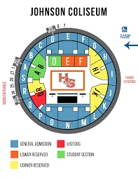 Mens Basketball Seating Map Sam Houston State Bearkats