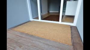 Doormat coconut doormat photographs : Coir Entrance Matting Cut to Size for Home - YouTube