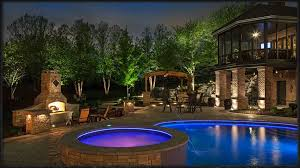 image of swimming pool outdoor landscape lights