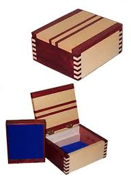 box jointed box jewelry trinket bo