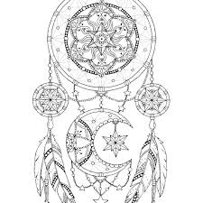 Small Picture Dreamcatcher Coloring Page For Pictures Of Dream Catcher Coloring