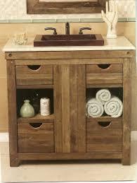 rustic bathroom vanities. single rustic bathroom vanities with drawers semi built in rectangle sink under framed mirror