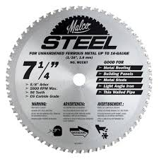 7 1 4 inch circular saw blade for steel