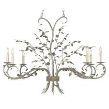company raintree oval chandelier cc 9021 with regard to oak leaf chandelier view 1