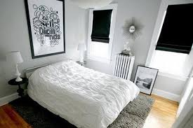 black and white bedroom decor. Sober Bedroom Black And White Decor