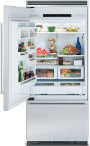viking professional refrigerator. Viking Professional Series FDBB5361L - Interior View Refrigerator