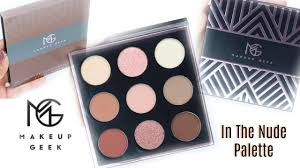 makeup geek in the palette swatches
