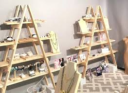 portable display shelves for arts and craft fairs shows paper dispensers