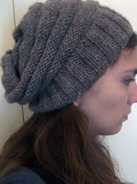 Free Slouch Hat Knitting Patterns Magnificent Beehive Beanie KNITTING