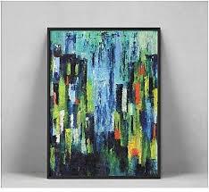 generic wall art blue green abstract