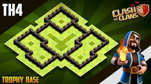 Town Hall 4 Base Design New Best Town Hall 4 Th4 War Trophy Base 2019 Coc Th4 War Base Design Defence Clash Of Clans