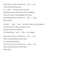 Penny Lane - song worksheet