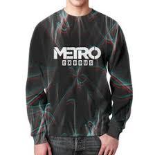 """<b>Мужские свитшоты</b> c стильными принтами """"metro exodus"""" - <b>Printio</b>"""