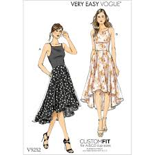 High Low Skirt Pattern Beauteous Misses Princess Seam HighLow Dresses With Pockets Vogue Sewing