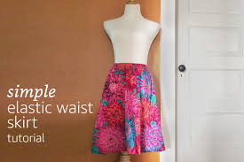 Simple Skirt Pattern Impressive Simple Elastic Waist Skirt Tutorial Learn How To Create A Simple