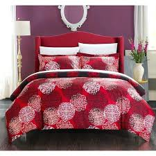 red and black duvet covers red black and white duvet covers chic home 7 piece justino