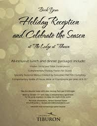 holiday party flyer 2014 tiburon hotel hotel in tiburon the holiday party flyer 2014