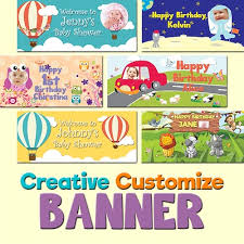 happy birthday customized banners banner free delivery customize creative banner for birthday party and event more and more designs coming