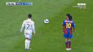 10 Times Cristiano Ronaldo Copied Ronaldinho - YouTube