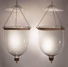 bell jar lighting fixtures. Pair Antique Bell Jar Lanterns With Brass Finial And Clear Glass. Dimensions: 12\u201d Diameter X 26\u201d Height (overall Length Of Fixture). Lighting Fixtures