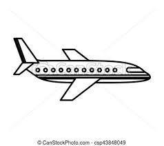 Kleurplaten Vlieg Vliegtuig Vrijstaand Pictogram Vlieg