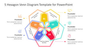 Compare And Contrast Venn Diagram Template 5 Hexagon Venn Diagram Powerpoint Template