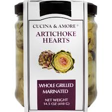 cucina amore whole grilled and marinated artichoke hearts