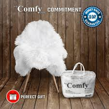 sheepskin faux fur chair cover rug seat pad area rugs for bedroom sofa floor vanity nursery decor white