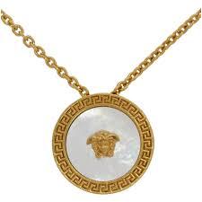 versace gold medusa pendant necklace d01tr gold