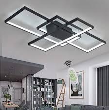 Wohnzimmerlampe Led Deckenleuchte Dimmbar Deckenlampe Mit Fernbedienung 80w Schlafzimmerlampe Modern Decke Aluminium Pendelleuchte Design Lampen
