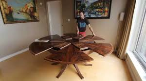 inspiration house inspiring expanding circular dining table in walnut you intended for surprising expandable round